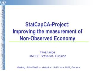 StatCapCA-Project:  Improving the measurement of Non-Observed Economy