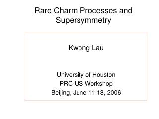 Rare Charm Processes and Supersymmetry