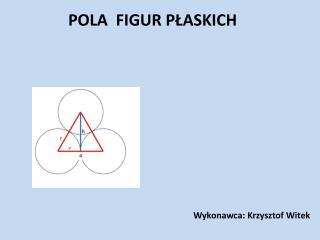Pola  Figur Płaskich