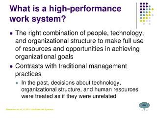 What is a high-performance work system?