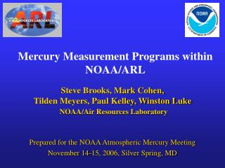 Mercury Measurement Programs within NOAA/ARL