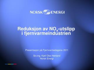 Reduksjon av NO x -utslipp i fjernvarmeindustrien