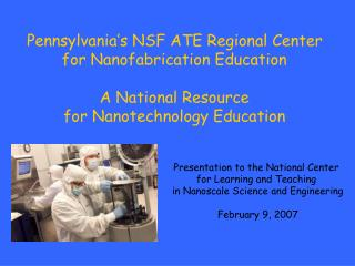 Presentation to the National Center  for Learning and Teaching