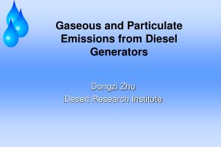 Gaseous and Particulate Emissions from Diesel Generators