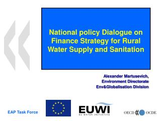 National policy Dialogue on Finance Strategy for Rural Water Supply and Sanitation
