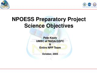 NPOESS Preparatory Project  Science Objectives