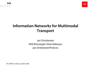 Information Networks for Multimodal Transport
