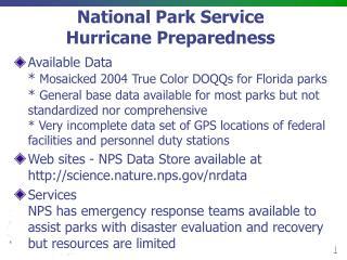 National Park Service Hurricane Preparedness
