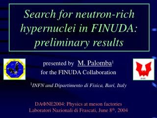 Search for neutron-rich hypernuclei in FINUDA:  preliminary results