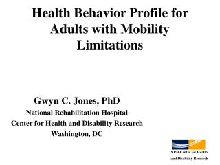Health Behavior Profile for Adults with Mobility Limitations