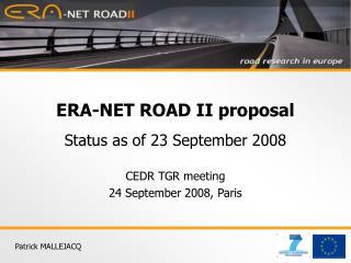 ERA-NET ROAD II proposal