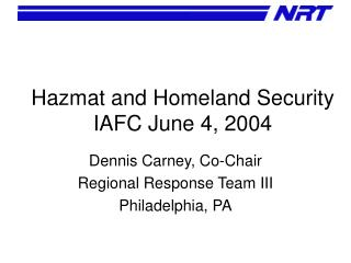 Hazmat and Homeland Security IAFC June 4, 2004