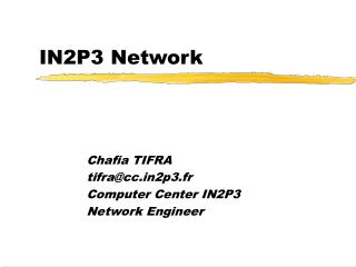IN2P3 Network