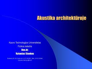 Akustika architektūroje