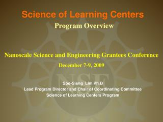 Science of Learning Centers
