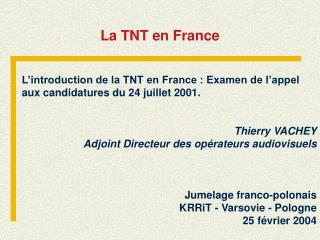 La TNT en France