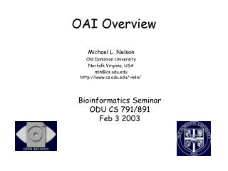 OAI Overview
