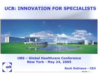 UCB: INNOVATION FOR SPECIALISTS
