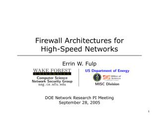 Firewall Architectures for  High-Speed Networks