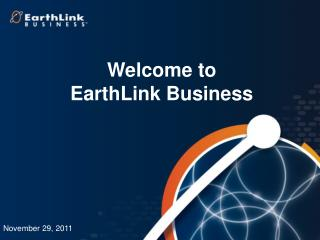 Welcome to  EarthLink Business