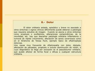 8.-  Dolor