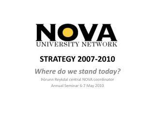 STRATEGY 2007-2010