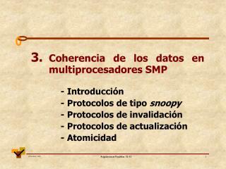 3. Coherencia de los datos en multiprocesadores SMP