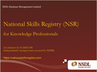 National Skills Registry (NSR)  for Knowledge Professionals