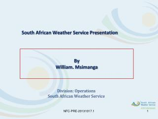 South African Weather Service Presentation