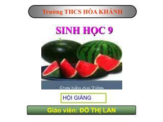 SINH HỌC 9