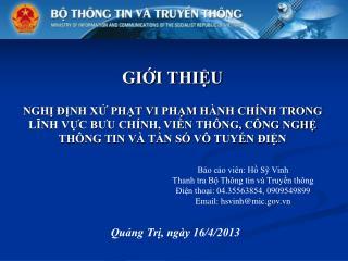 Quảng Trị, ngày 16/4/2013