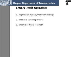 ODOT Rail Division