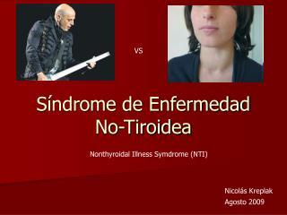 Síndrome de Enfermedad No-Tiroidea