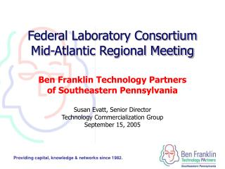 Federal Laboratory Consortium Mid-Atlantic Regional Meeting