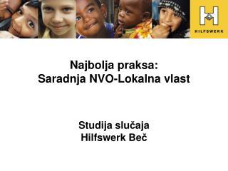 Najbolja praksa: Saradnja NVO-Lokalna vlast