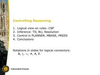 Controlling Reasoning