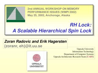 RH Lock: A Scalable Hierarchical Spin Lock