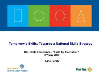 Tomorrow's Skills: Towards a National Skills Strategy