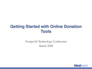 Getting Started with Online Donation Tools
