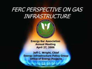 Jeff C. Wright, Chief Energy Infrastructure Policy Group Office of Energy Projects