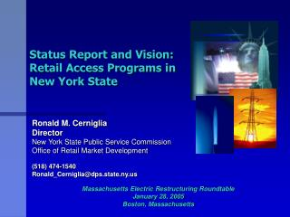 Status Report and Vision: Retail Access Programs in New York State
