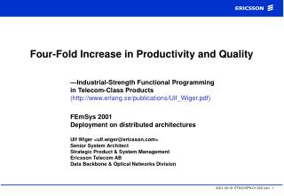 Four-Fold Increase in Productivity and Quality