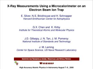 X-Ray Measurements Using a Microcalorimeter on an Electron Beam Ion Trap