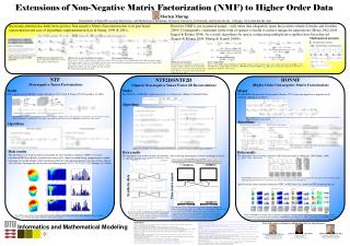Extensions of Non-Negative Matrix Factorization (NMF) to Higher Order Data