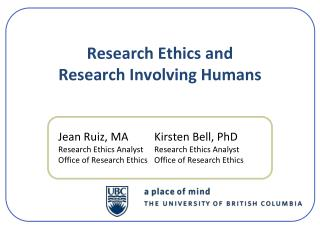 Research Ethics and Research Involving Humans