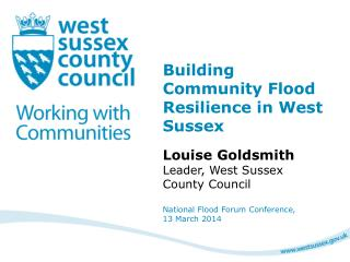 Building Community Flood Resilience in West Sussex