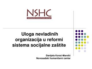 Uloga nevladinih organizacija u reformi sistema socijalne  zaštite