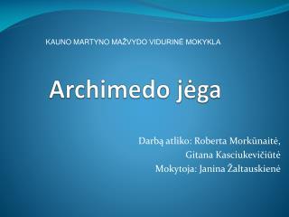Archimedo  j ėga