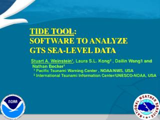 TIDE TOOL :  SOFTWARE TO ANALYZE  GTS SEA-LEVEL DATA