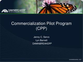 Commercialization Pilot Program CPP